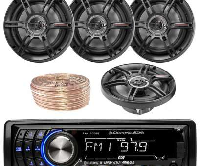 18 gauge wire for car speakers Lightning Audio By Rockford Fosgate LA1500BT, Bluetooth Stereo Receiver Player Bundle Combo With 4x Crunch CS653 6.5-Inch 3-Way Black Coaxial 18 Gauge Wire, Car Speakers Practical Lightning Audio By Rockford Fosgate LA1500BT, Bluetooth Stereo Receiver Player Bundle Combo With 4X Crunch CS653 6.5-Inch 3-Way Black Coaxial Solutions
