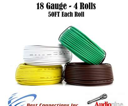 18 gauge wire colors 4, Trailer Wire Light Cable, Harness, 50ft Each Roll 18 Gauge 4 Colors 19 Fantastic 18 Gauge Wire Colors Photos