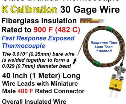 18 gauge wire diameter in inches Glass Braided Thermocouple, Type K 30 Gage Fiberglass Insulated 40 inches long with Miniature Connector 18 Gauge Wire Diameter In Inches Creative Glass Braided Thermocouple, Type K 30 Gage Fiberglass Insulated 40 Inches Long With Miniature Connector Pictures