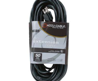 18 gauge wire extension cord American DJ 50FT Black 16 Gauge AC Extension Cord [EC163-50] 20 New 18 Gauge Wire Extension Cord Galleries