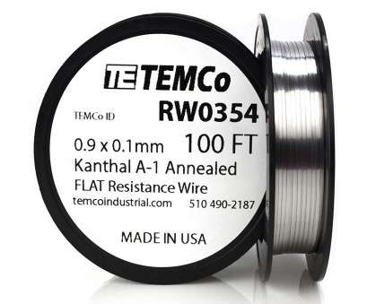 18 gauge wire grainger TEMCo Flat Ribbon Kanthal A1 Wire 0.9mm x 0.1mm, Ft Resistance,, - Amazon.com 13 Brilliant 18 Gauge Wire Grainger Pictures