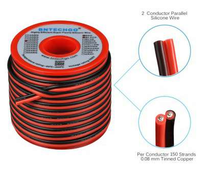 18 gauge wire is how many mm Get Quotations · BNTECHGO 18 Gauge Flexible 2 Conductor Parallel Silicone Wire Spool, Black High Resistant, deg 18 Gauge Wire Is, Many Mm Brilliant Get Quotations · BNTECHGO 18 Gauge Flexible 2 Conductor Parallel Silicone Wire Spool, Black High Resistant, Deg Solutions