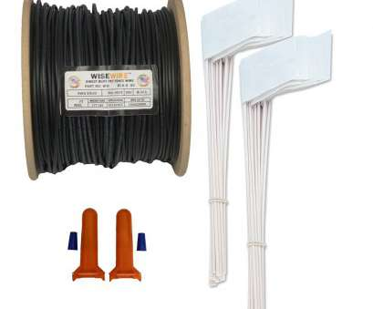 18 gauge wire solid core Boundary, 18 Gauge Solid Core WiseWire®, 50 Flags, 2 Splices WiseWire® 18, is equal to copper in signal performance, pet containment systems 18 Gauge Wire Solid Core Professional Boundary, 18 Gauge Solid Core WiseWire®, 50 Flags, 2 Splices WiseWire® 18, Is Equal To Copper In Signal Performance, Pet Containment Systems Photos