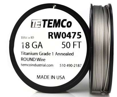 18 gauge wire for surgery TEMCo Titanium Wire 18 Gauge 25 Ft Surgical Grade 1 Resistance, ga, Amazon.com 12 Nice 18 Gauge Wire, Surgery Photos