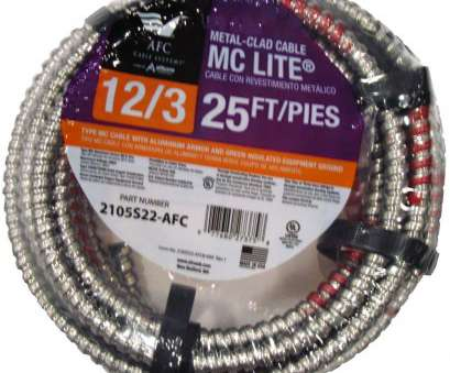19/22 wire gauge 12/3 x 25, Solid MC Lite Cable 19/22 Wire Gauge Creative 12/3 X 25, Solid MC Lite Cable Photos
