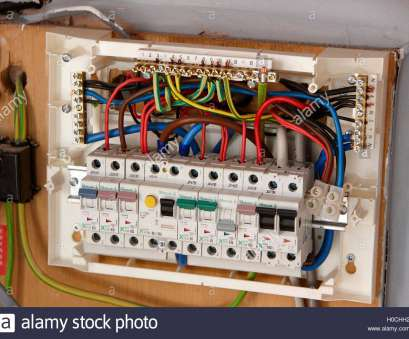 1949 home electrical wiring exposed wiring in domestic consumer unit circuit breaker in, uk, Stock Image 1949 Home Electrical Wiring Creative Exposed Wiring In Domestic Consumer Unit Circuit Breaker In, Uk, Stock Image Photos