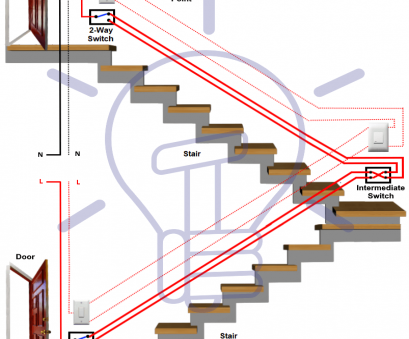 2 way switch wiring connection Staircase wiring connection using 2, way switches, intermediate switch 2, Switch Wiring Connection Fantastic Staircase Wiring Connection Using 2, Way Switches, Intermediate Switch Collections