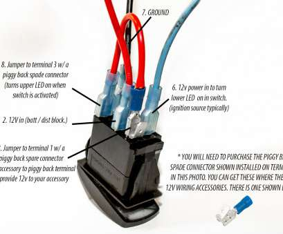 2 Wire Toggle Switch Wiring Perfect VJD2-UXXB, DPDT Blue ...  Pin Switch Wiring Diagram on