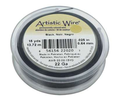 22 gauge artistic wire 22 Gauge Black Artistic Wire, 15 Yards 22 Gauge Artistic Wire Top 22 Gauge Black Artistic Wire, 15 Yards Collections