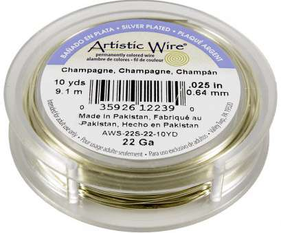 22 gauge artistic wire Artistic Wire Silver Plated Copper Jewelry Wire, 22ga, 10yd, Champagne 22 Gauge Artistic Wire New Artistic Wire Silver Plated Copper Jewelry Wire, 22Ga, 10Yd, Champagne Images