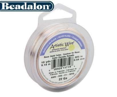 22 gauge artistic wire Beadalon Artistic Wire 22 Gauge Silver Plated Rose Gold Colour 9.1m 22 Gauge Artistic Wire Creative Beadalon Artistic Wire 22 Gauge Silver Plated Rose Gold Colour 9.1M Photos