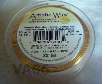 22 gauge artistic wire DIY Gold Artistic Wire 22 Gauge 0.6mm 15 Yards Round Wire Made in, Brass Wire Findings Wire Wrapping, for Craft Projects 22 Gauge Artistic Wire Creative DIY Gold Artistic Wire 22 Gauge 0.6Mm 15 Yards Round Wire Made In, Brass Wire Findings Wire Wrapping, For Craft Projects Collections