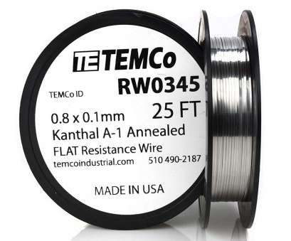 22 gauge flat kanthal wire TEMCo Flat Ribbon Kanthal A1 Wire 0.8mm x 0.1mm, Ft Resistance,, - Amazon.com 20 Creative 22 Gauge Flat Kanthal Wire Collections