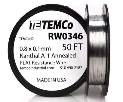 22 gauge flat kanthal wire TEMCo Flat Ribbon Kanthal A1 Wire 0.8mm x 0.1mm, Ft Resistance,, - Amazon.com 22 Gauge Flat Kanthal Wire Best TEMCo Flat Ribbon Kanthal A1 Wire 0.8Mm X 0.1Mm, Ft Resistance,, - Amazon.Com Ideas