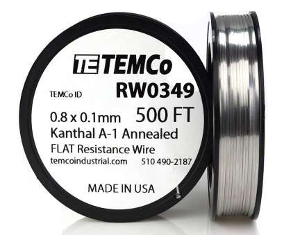 22 gauge flat kanthal wire TEMCo Flat Ribbon Kanthal A1 Wire 0.8mm x 0.1mm, Ft Resistance,, - Amazon.com 22 Gauge Flat Kanthal Wire Simple TEMCo Flat Ribbon Kanthal A1 Wire 0.8Mm X 0.1Mm, Ft Resistance,, - Amazon.Com Collections