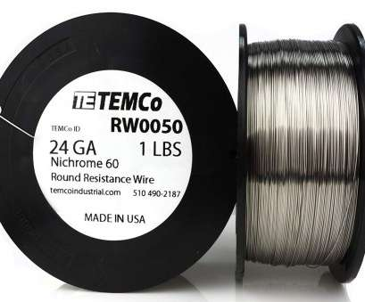 22 gauge nichrome wire resistance TEMCo Nichrome 60 series wire 24 Gauge, Ft Resistance, ga, Amazon.com 22 Gauge Nichrome Wire Resistance Creative TEMCo Nichrome 60 Series Wire 24 Gauge, Ft Resistance, Ga, Amazon.Com Ideas