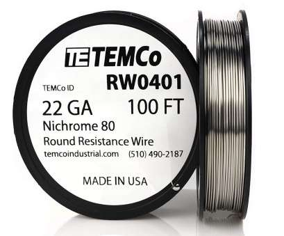 22 gauge nichrome wire resistance TEMCo Nichrome 80 series wire 22 Gauge 25 FT Resistance, ga, Amazon.com 22 Gauge Nichrome Wire Resistance Most TEMCo Nichrome 80 Series Wire 22 Gauge 25 FT Resistance, Ga, Amazon.Com Pictures