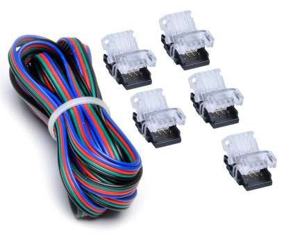 22 gauge led wire AUSIDA, LED Strip Connectors(5pcs)Kit 4, With 2meter, Extension Wire 22 Gauge,DIY Both Strip to Power Jumper accessory, Lamp Holder Converters 22 Gauge, Wire Professional AUSIDA, LED Strip Connectors(5Pcs)Kit 4, With 2Meter, Extension Wire 22 Gauge,DIY Both Strip To Power Jumper Accessory, Lamp Holder Converters Pictures