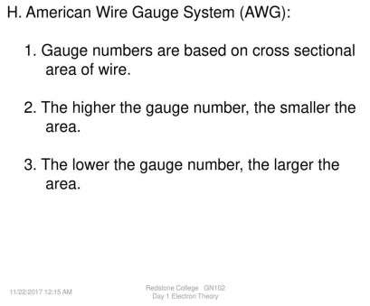 22 gauge wire cross sectional area Basic Electricity Electron Theory -, download 22 Gauge Wire Cross Sectional Area Top Basic Electricity Electron Theory -, Download Galleries