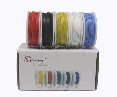 22 gauge wire kit Striveda 22, Flexible Silicone Soild wire, box Electric wire 22 gauge Hook Up Wire 300V Cable (19.6ft Each Color)-in Wires & Cables from Lights 22 Gauge Wire Kit New Striveda 22, Flexible Silicone Soild Wire, Box Electric Wire 22 Gauge Hook Up Wire 300V Cable (19.6Ft Each Color)-In Wires & Cables From Lights Collections