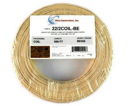 22 gauge wire price SCP Beige 22 GA Gauge, 2 Conductor Stranded Copper Alarm Wire Security Cable 22 Gauge Wire Price Nice SCP Beige 22 GA Gauge, 2 Conductor Stranded Copper Alarm Wire Security Cable Collections