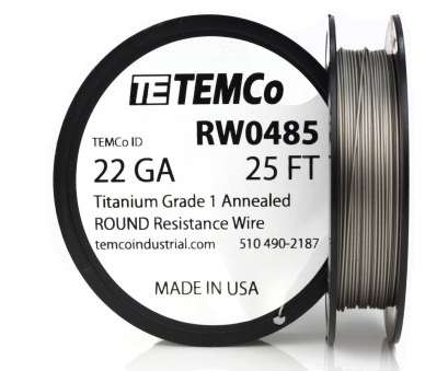 22 gauge wire price Temco Titanium Wire 22 Gauge 25 FT Surgical Grade 1 Resistance, GA 22 Gauge Wire Price Best Temco Titanium Wire 22 Gauge 25 FT Surgical Grade 1 Resistance, GA Images
