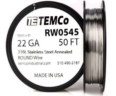 22 gauge wire resistance Temco Stainless Steel Wire SS 316l, 22 Gauge 50 FT Non-resistance, GA 22 Gauge Wire Resistance Brilliant Temco Stainless Steel Wire SS 316L, 22 Gauge 50 FT Non-Resistance, GA Ideas