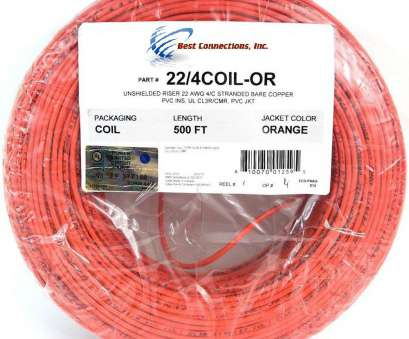 22 gauge wire stranded 22 Gauge 4 Conductor 500' Feet Orange Stranded Copper Alarm Wire Security Cable 22 Gauge Wire Stranded Practical 22 Gauge 4 Conductor 500' Feet Orange Stranded Copper Alarm Wire Security Cable Ideas