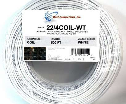 22 gauge wire stranded 500' ft 22 Gauge 4 Conductor Stranded Security Alarm COPPER Wire Cable White 22 Gauge Wire Stranded New 500' Ft 22 Gauge 4 Conductor Stranded Security Alarm COPPER Wire Cable White Collections