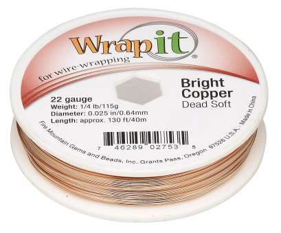22 gauge wire weight Wire, Wrapit®, Bright Copper, dead-soft, round, 22 gauge. Sold, 1/4 pound spool, approximately, feet., Fire Mountain Gems, Beads 22 Gauge Wire Weight Nice Wire, Wrapit®, Bright Copper, Dead-Soft, Round, 22 Gauge. Sold, 1/4 Pound Spool, Approximately, Feet., Fire Mountain Gems, Beads Pictures