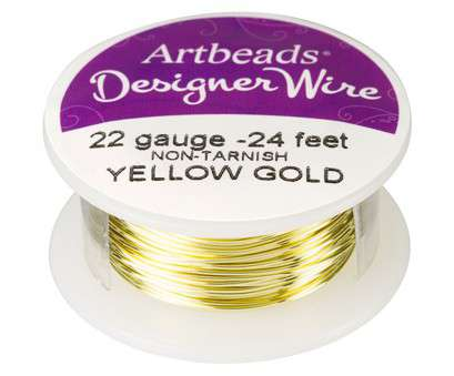 22 vs 24 gauge wire Artbeads Designer Wire, Yellow Gold Non-Tarnish 22 Gauge, ft. spool) 22 Vs 24 Gauge Wire Professional Artbeads Designer Wire, Yellow Gold Non-Tarnish 22 Gauge, Ft. Spool) Photos