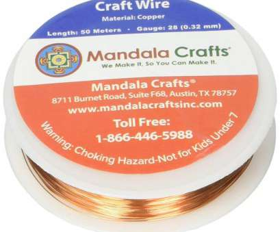24-26 gauge wire Amazon.com: Mandala Crafts 18 20 22 24 26 28 Gauge Thick Solid Copper Wire, Beading Wrapping Jewelry Making, Gauge 50M, Bare Copper) 24-26 Gauge Wire Simple Amazon.Com: Mandala Crafts 18 20 22 24 26 28 Gauge Thick Solid Copper Wire, Beading Wrapping Jewelry Making, Gauge 50M, Bare Copper) Ideas