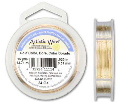 24 gauge gold wire 24-Gauge Gold Tarnish-Resistant Artistic Wire, 15-Yard Spool 24 Gauge Gold Wire Creative 24-Gauge Gold Tarnish-Resistant Artistic Wire, 15-Yard Spool Pictures