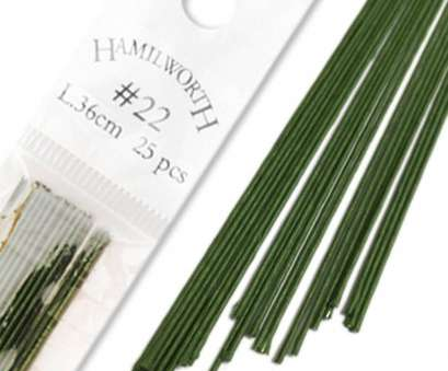 24 Gauge Green Floral Wire New ... Hamilworth Dark Green, Sugar Florist & Cake Decorating Florist Wire, Paper Covered Collections