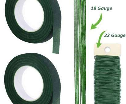 24 Gauge Green Floral Wire Fantastic Premium Quality, Inch Floral Tape, Self-Sealing, Dark Green And Pictures
