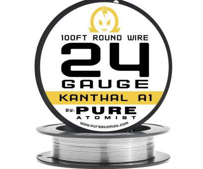 24 gauge kanthal wire for sale PURE ATOMIST Kanthal, Cotton 24 Gauge A1 Wire, 20 Japanese Organic Pads, 100ft Spool, / 0.51mm, Amazon.com 24 Gauge Kanthal Wire, Sale Top PURE ATOMIST Kanthal, Cotton 24 Gauge A1 Wire, 20 Japanese Organic Pads, 100Ft Spool, / 0.51Mm, Amazon.Com Ideas