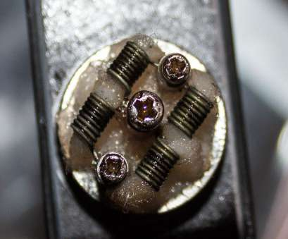 24 gauge nickel wire Holy Grail, Quad coil 8 wrap 5/64
