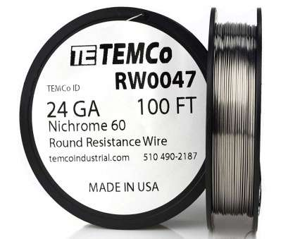 24 gauge nickel wire TEMCo Nichrome 60 series wire 24 Gauge, Ft Resistance, ga, Amazon.com 24 Gauge Nickel Wire Professional TEMCo Nichrome 60 Series Wire 24 Gauge, Ft Resistance, Ga, Amazon.Com Collections