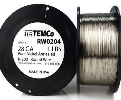 24 gauge nickel wire TEMCo Pure Nickel Wire 28 Gauge 1 lb, resistance, Ni200 Nickel, ga, Amazon.com 24 Gauge Nickel Wire Cleaver TEMCo Pure Nickel Wire 28 Gauge 1 Lb, Resistance, Ni200 Nickel, Ga, Amazon.Com Photos