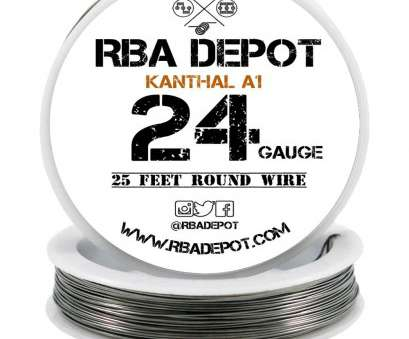 24 gauge wire ... 24 Gauge, Premium Kanthal Wire Alloy A1 Resistance Wire 0.51mm Roll -, Depot 24 Gauge Wire Most ... 24 Gauge, Premium Kanthal Wire Alloy A1 Resistance Wire 0.51Mm Roll -, Depot Solutions