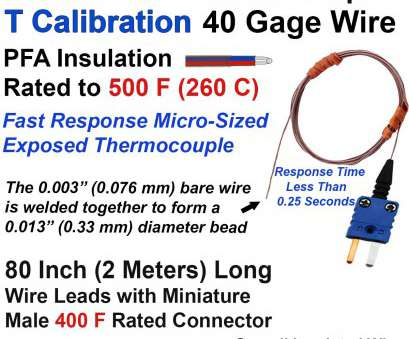 24 gauge wire diameter with insulation thermocouple beaded wire sensor type t 40 gage 80 long, wire rh evosensors com 24 Gauge Wire Diameter With Insulation Perfect Thermocouple Beaded Wire Sensor Type T 40 Gage 80 Long, Wire Rh Evosensors Com Solutions