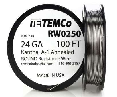 24 gauge wire kanthal Temco Kanthal A1 Wire 24 Gauge, FT Resistance, A-1 GA 8 Simple 24 Gauge Wire Kanthal Images