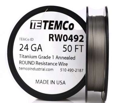 24 gauge wire resistance TEMCo Titanium Wire 24 Gauge 50 FT Surgical Grade 1 Resistance, ga 1 of 3FREE Shipping 24 Gauge Wire Resistance Brilliant TEMCo Titanium Wire 24 Gauge 50 FT Surgical Grade 1 Resistance, Ga 1 Of 3FREE Shipping Galleries