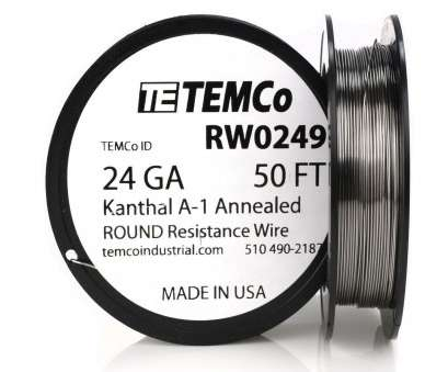 24 gauge wire Temco Kanthal A1 Wire 24 Gauge 50 FT Resistance, A-1 GA 24 Gauge Wire Practical Temco Kanthal A1 Wire 24 Gauge 50 FT Resistance, A-1 GA Images