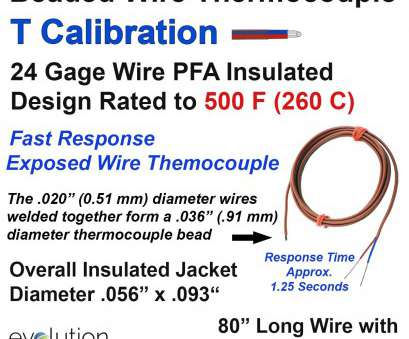24 gauge wire thickness in mm Thermocouple Beaded Wire Sensor, Type T 24 Gage, Insulated 80 inches long with Stripped Leads 24 Gauge Wire Thickness In Mm Practical Thermocouple Beaded Wire Sensor, Type T 24 Gage, Insulated 80 Inches Long With Stripped Leads Pictures