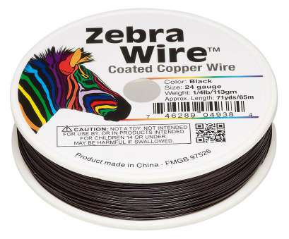 24 gauge wire uses Wire, Zebra Wire™, color-coated copper, black, round, 24 gauge. Sold, 20-yard spool., Fire Mountain Gems, Beads 20 Cleaver 24 Gauge Wire Uses Collections