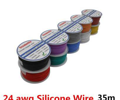 24/0.2 wire gauge 35m 24, Flexible Silicone Wire RC Line Cable OD 1.6mm With 10 Colors to 24/0.2 Wire Gauge Simple 35M 24, Flexible Silicone Wire RC Line Cable OD 1.6Mm With 10 Colors To Pictures