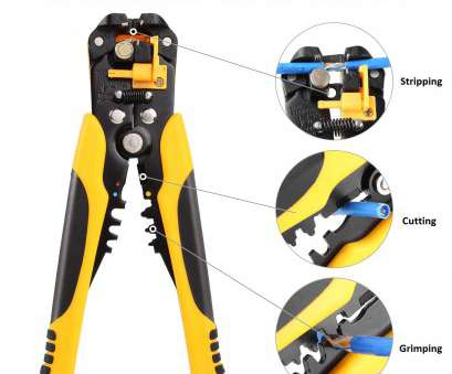 24/0.2 wire gauge FIXKIT Self-Adjusting Wire/Cable Stripper, 8-Inch Automatic Wire Stripping Tool with Premium Grips, 10-24(0.2~6.0mm²), Multi Tool Stripper 24/0.2 Wire Gauge Cleaver FIXKIT Self-Adjusting Wire/Cable Stripper, 8-Inch Automatic Wire Stripping Tool With Premium Grips, 10-24(0.2~6.0Mm²), Multi Tool Stripper Images