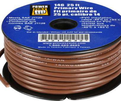 25 mm wire to gauge 14 Gauge 25 ft Primary Wire, Princess Auto 25 Mm Wire To Gauge Cleaver 14 Gauge 25 Ft Primary Wire, Princess Auto Photos