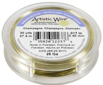 26 gauge gold wire Artistic Wire Silver Plated Copper Jewelry Wire, 26ga, 30yd, Champagne 26 Gauge Gold Wire Most Artistic Wire Silver Plated Copper Jewelry Wire, 26Ga, 30Yd, Champagne Photos